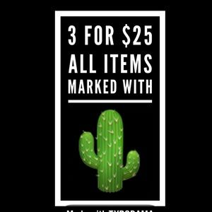 🌵🌵3 for $25🌵🌵